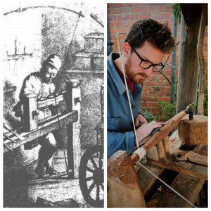 bodger history wood turning pole lathe